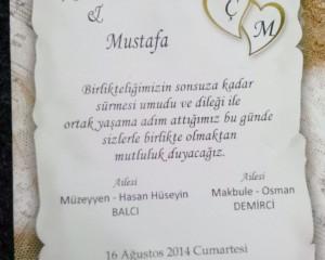 Çiğdem ve Mustafa evleniyorlar…