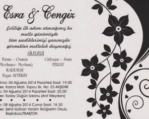 Esra ve Cengiz evleniyorlar…