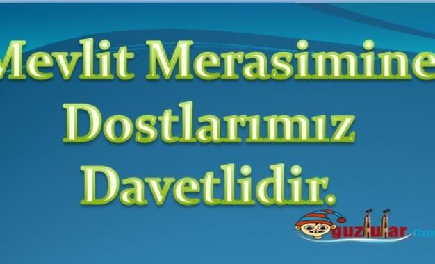 Kuran-ı Kerim ve Mevlid-iŞerif Daveti