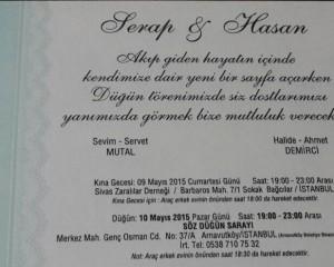Serap Mutal & Hasan Demirci Evleniyor