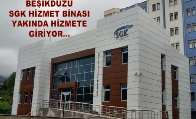Beşikdüzü SGK Hizmet Binası Yakında Hizmete Giriyor